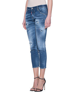 DSQUARED2 Cool Girl Jean Cropped Blue