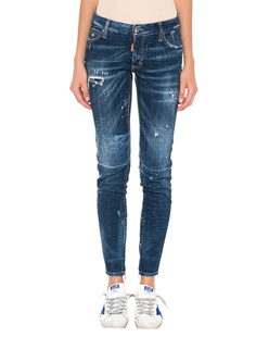 DSQUARED2 Medium Waist Skinny Zip Blue