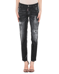 DSQUARED2 Boyfriend Washed Out Black