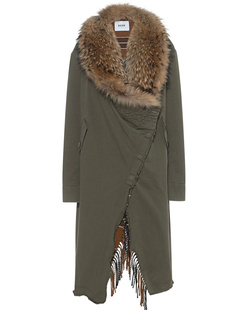 BAZAR DELUXE Checked Fur Military Olive