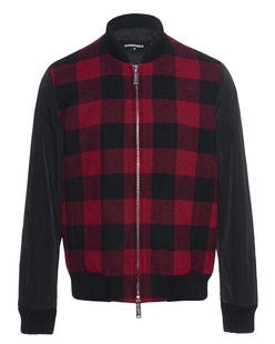 DSQUARED2 Bomber Checked Red