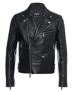 DSQUARED2 Leather Biker Black