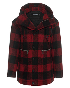 DSQUARED2 Hooded Checked Red