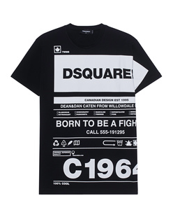 DSQUARED2 Allover Wording Black