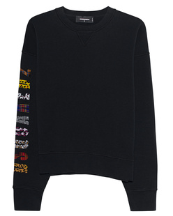 DSQUARED2 Sleeve Letter Pattern Black