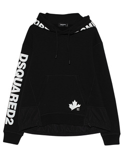 DSQUARED2 Leaf Print Logo Black
