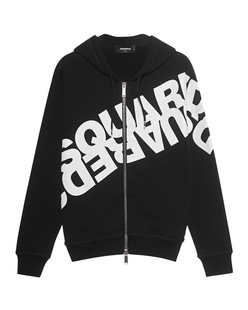 DSQUARED2 Zip DIag Print Black