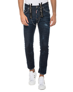 DSQUARED2 Skater Jean Double Zip Blue