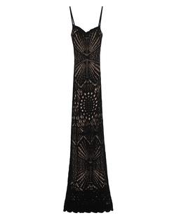 DSQUARED2 Long Knitwear Lace Black Beige