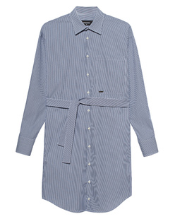 DSQUARED2 Stripe Belt Blue White