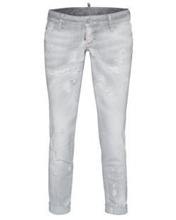 DSQUARED2 Pat Cropped Washed Light Grey