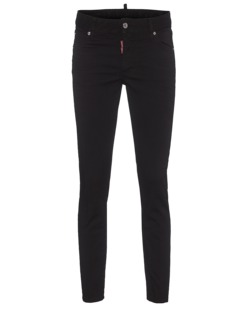 DSQUARED2 Medium Waist Cropped Twiggy Jean Black