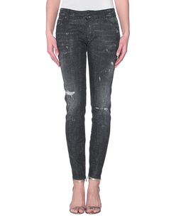 DSQUARED2 Medium Waist Skinny Jean Sparkle
