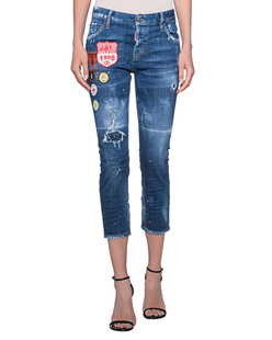 DSQUARED2 Cool Girl Crop Patches Blue