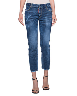 DSQUARED2 Twiggi Mid Waist Crop Blue