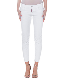DSQUARED2 Jennifer Cropped Zip White