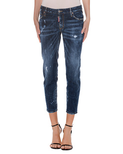 DSQUARED2 Midd Waist Cropped Twiggi Blue