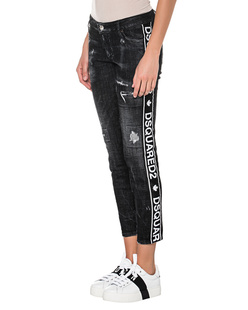 DSQUARED2 Mid Waist Skinny Cropped Black