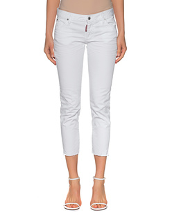 DSQUARED2 Twiggy Medium Waist Crop White
