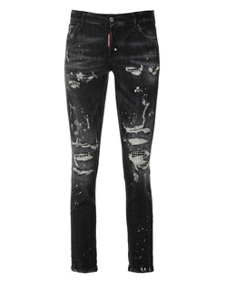 DSQUARED2 Jennifer Cropped Jean Black
