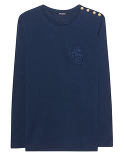 BALMAIN Lion Embroidery Navy