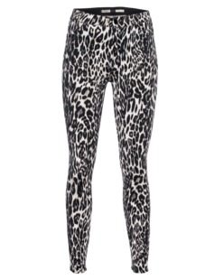 GIAMBATTISTA VALLI FOR SEVEN FOR ALL MANKIND High Waist Leopard Brown