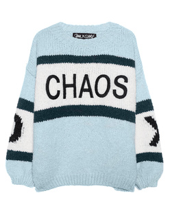 PAUL X CLAIRE Oversize Chunky Embroidery Light Blue