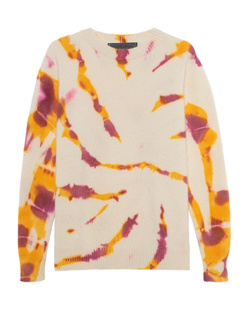 The Elder Statesman Burnout Tie Dyed Simple Crew  Multicolor