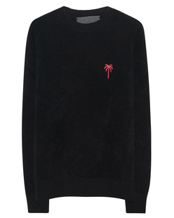 The Elder Statesman Red Embroidered Simple Crew Black