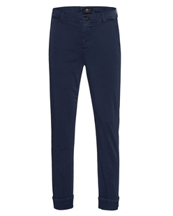 7 FOR ALL MANKIND The Crop Chino Sateen Dark Navy