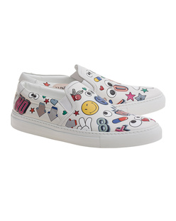 ANYA HINDMARCH Skater All Over Wink Chalk