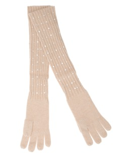 ALBEROTANZA Sky Gloves Swarovski Beige