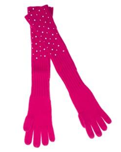 ALBEROTANZA Sky Gloves Swarovski Pink