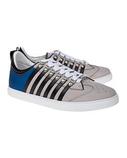 DSQUARED2 Low Sole Stripes Grey Blue