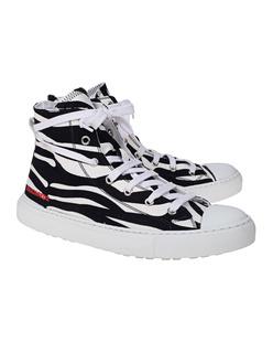 DSQUARED2 Zebra Pattern Rubber Black White