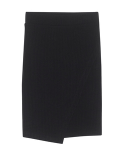 SPLENDID Sylvie Rib Crossover Skirt Black