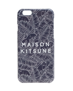 MAISON KITSUNÉ Label Leaves Dark Blue