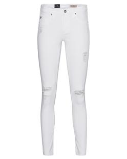 AG Jeans The Legging Ankle Destroyed White
