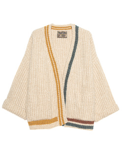 CAMOUFLAGE COUTURE STORK Oversize Stripe Knit Beige