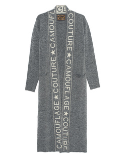 CAMOUFLAGE COUTURE STORK Knitted Lettering Grey