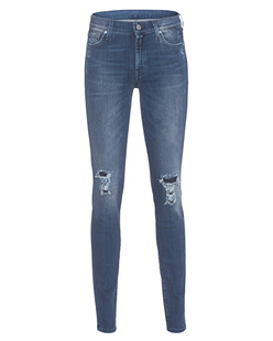 7 FOR ALL MANKIND The Skinny Slim Illusion Bluesteel Distressed