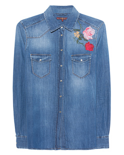7 FOR ALL MANKIND New Western Shirt Embroided Flowers