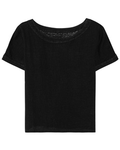 120% LINO Shirt Linen Black