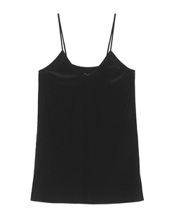 JADICTED Silk V Neck Black