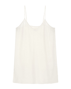 JADICTED Silk V Neck Off White