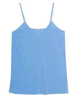 JADICTED Silk V Neck Light Blue