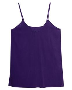 JADICTED Silk V Neck Purple