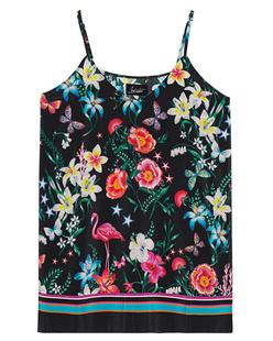JADICTED Silk Black Floral Multicolor