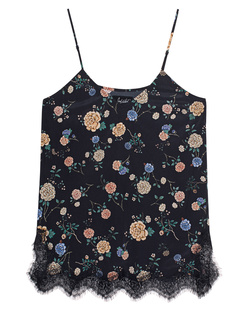 JADICTED Silk Dark Flower Navy