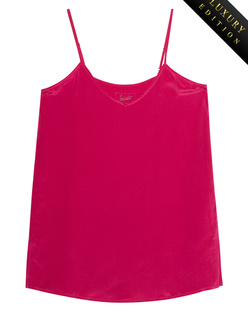 JADICTED V Neck Heavy Silk Pink